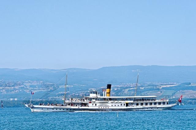 Rhone paddle steamer boat.