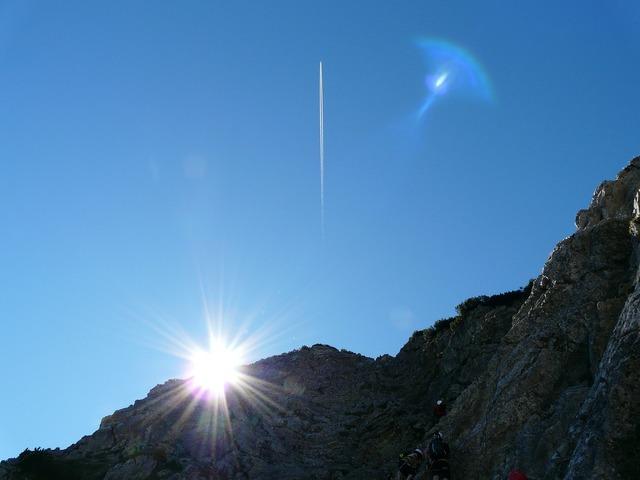Ridge mountain sun, nature landscapes.