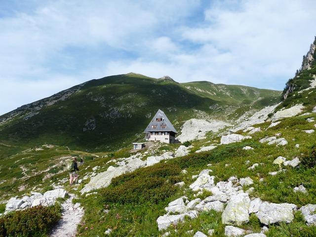Rifugio garelli alpine hut mountain hut.