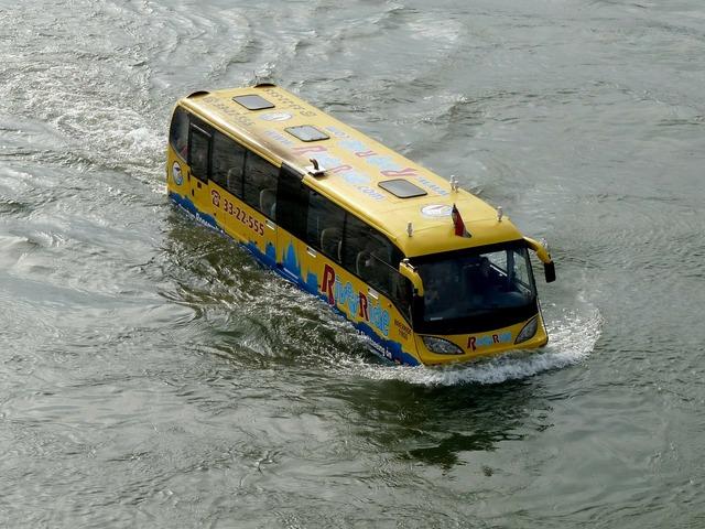 River bus boat, transportation traffic.