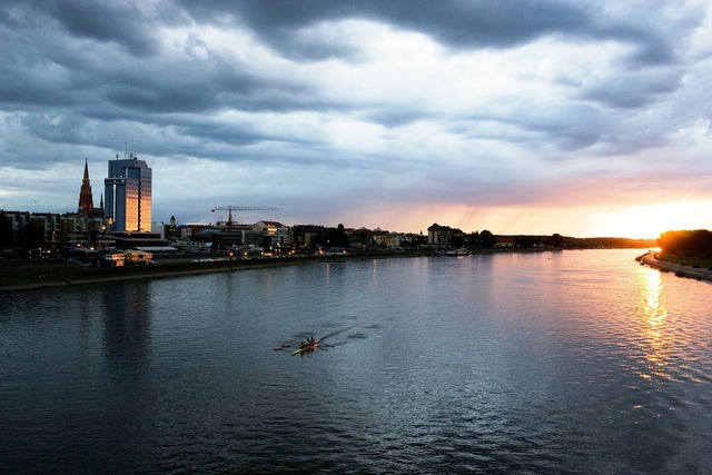 River dusk croatia, travel vacation.