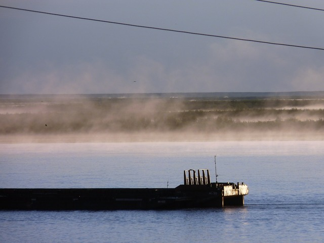 River fog over the river fog.