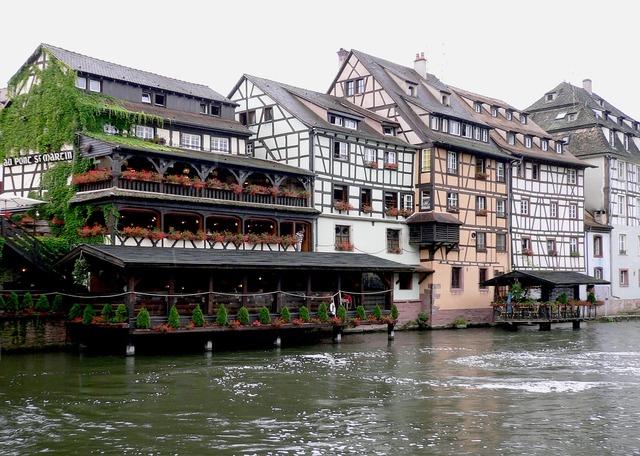 River ill fachwerkhäuser.