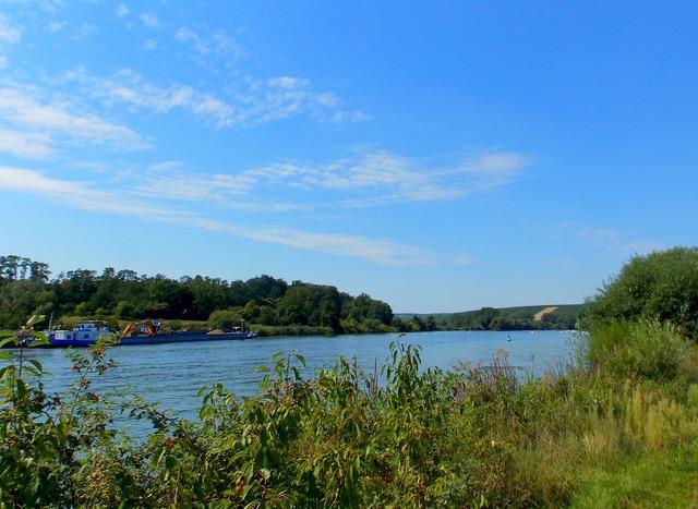 River main river landscape, nature landscapes.