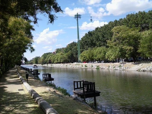 River shore park.