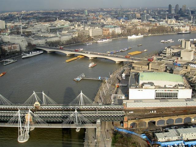 River thames bridges.