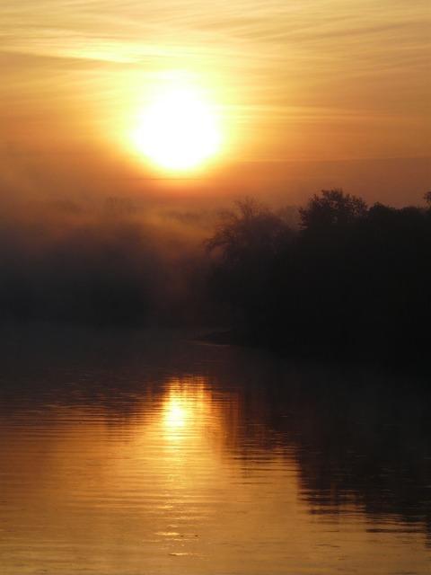 River the sun west.