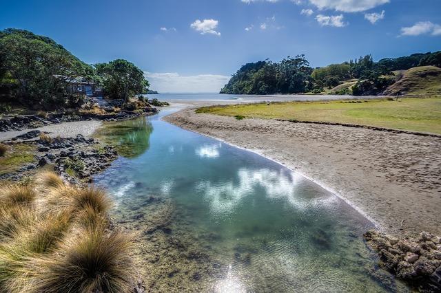 River water inlet, nature landscapes.