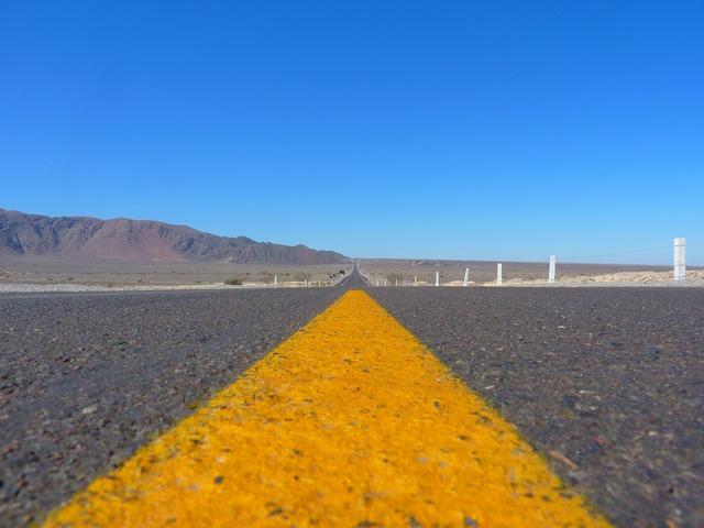 Road asphalt away, transportation traffic.