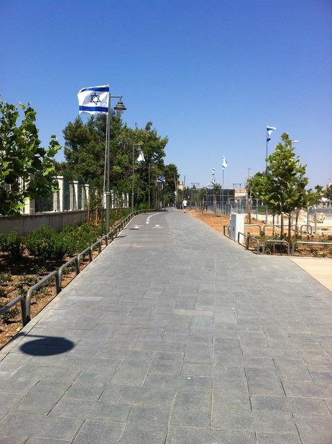 Road israel jerusalem, transportation traffic.