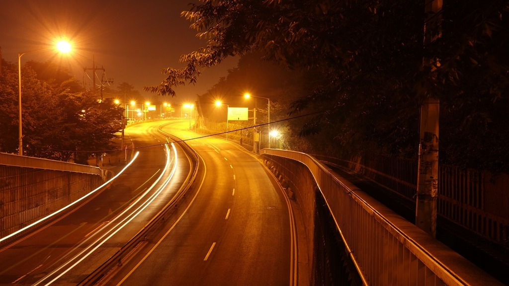 Road night view light, transportation traffic.