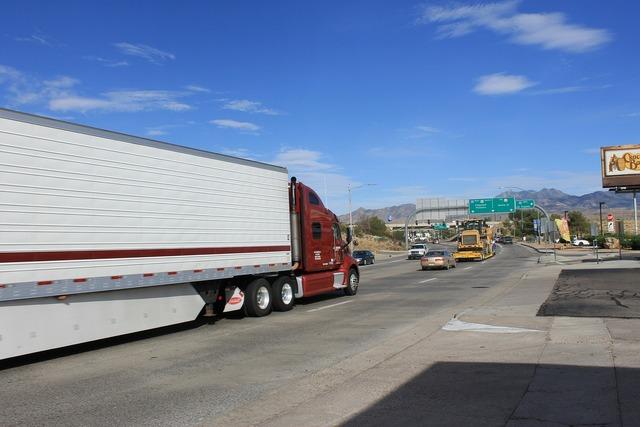 Road truck path, transportation traffic.