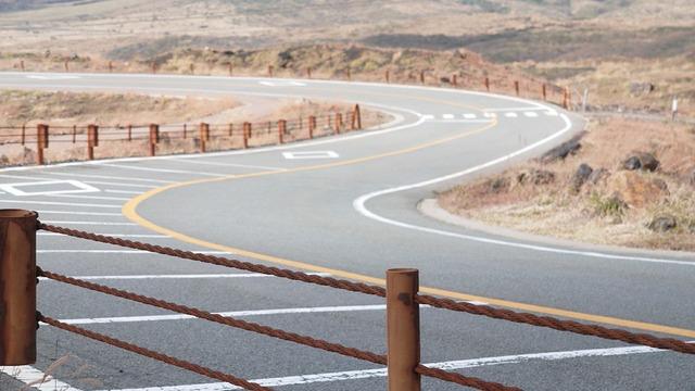 Road winding japan, transportation traffic.