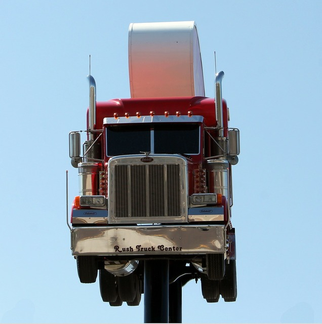 Roadsign truck peterbilt, transportation traffic.
