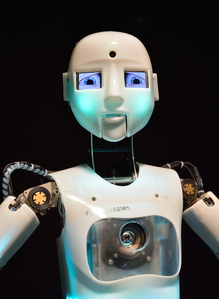 Robot android machine, science technology.