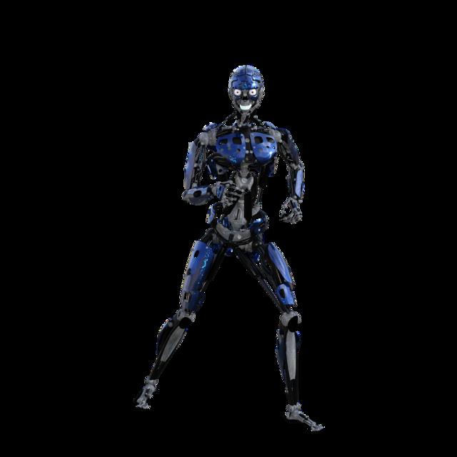 Robot cyborg artificial.