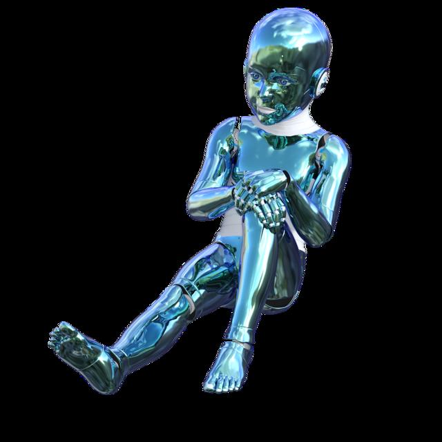 Robot cyborg futuristic.