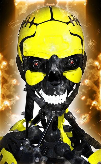 Robot cyborg futuristic, science technology.