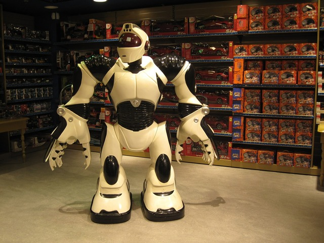 Robot toy store.