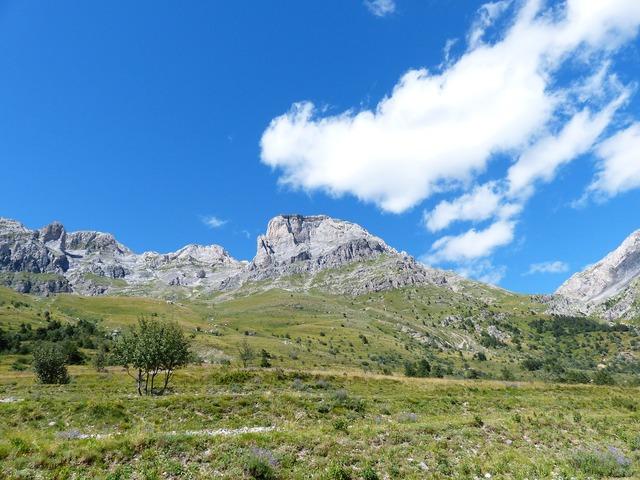 Rocca garba mountains summit.
