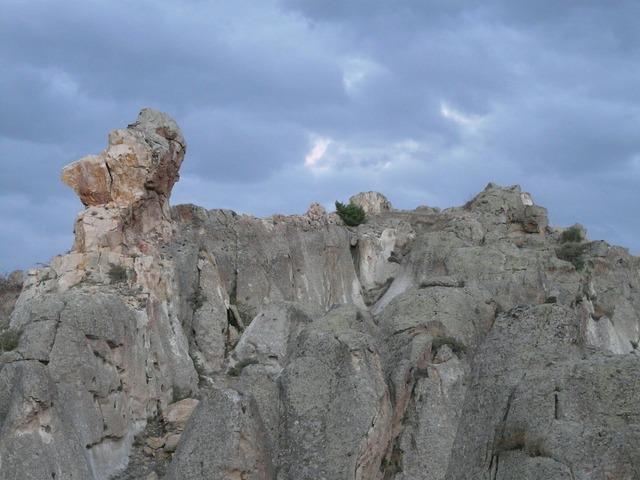 Rock cliff limestone, nature landscapes.