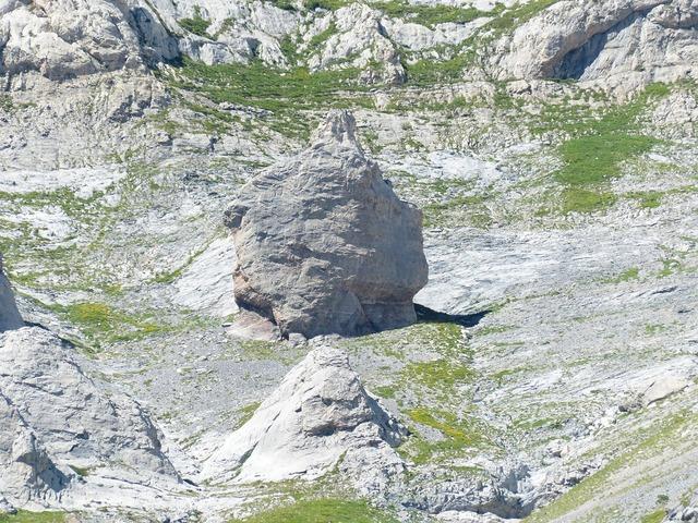 Rock climbing area climb.