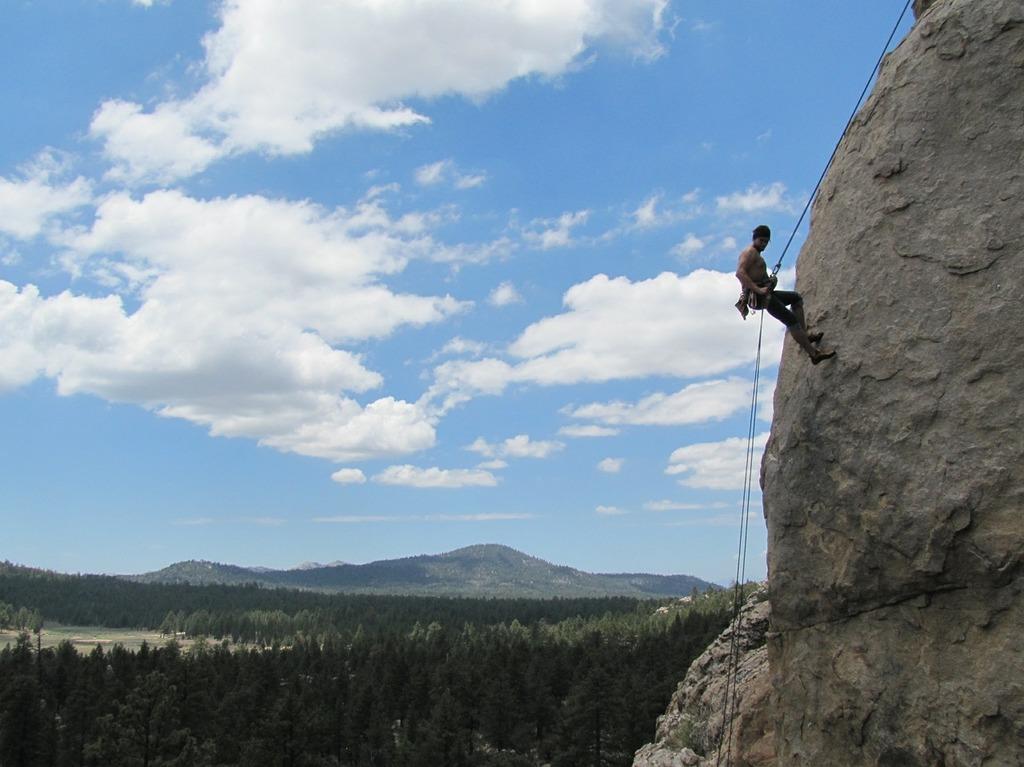 Rock climbing rappelling rappel, nature landscapes.