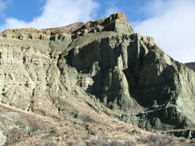 Rock formation john day fossil beds, nature landscapes.