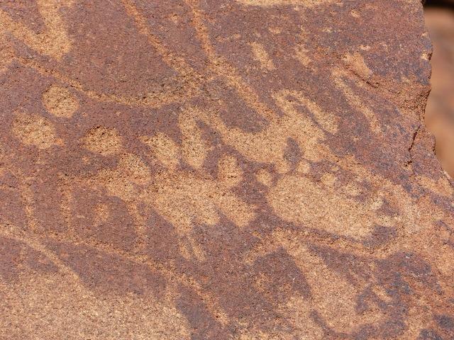Rock paintings bushmen namibia.