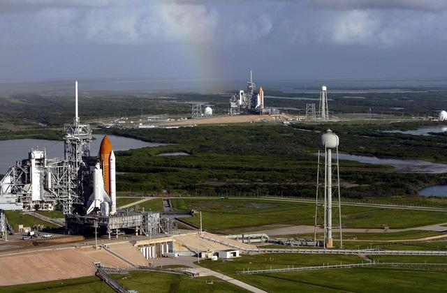 Rocket launch pad rocket launch, science technology.