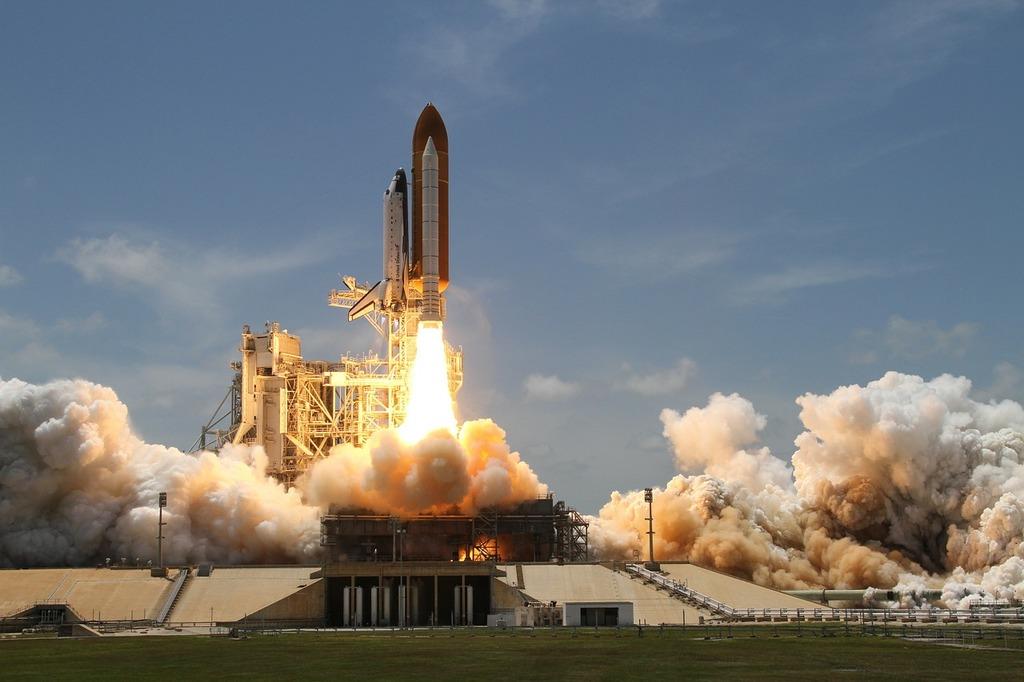 Rocket launch smoke rocket, science technology.