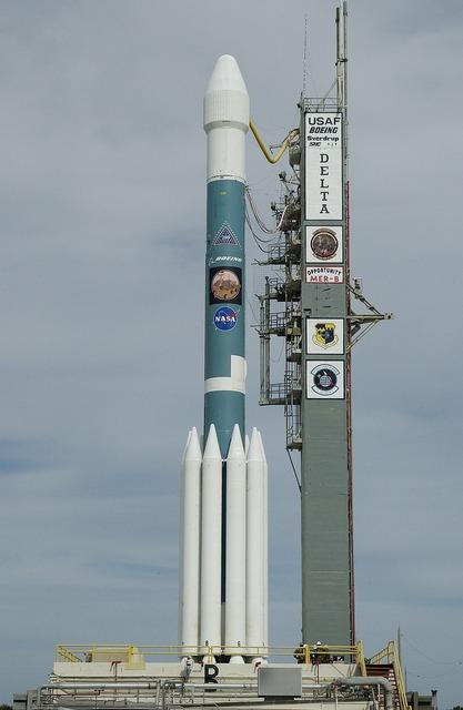 Rocket space probe delta 7925h rocket.