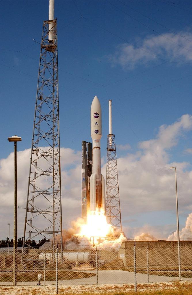 Rocket start spaceport, science technology.