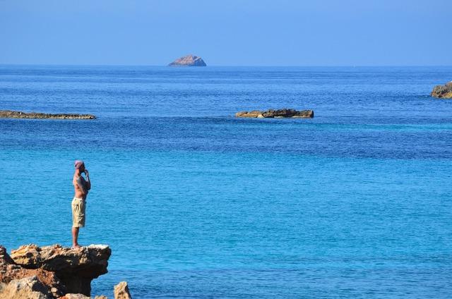 Rocks beach sand, travel vacation.
