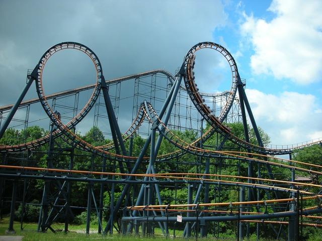 Roller coaster ride amusement.