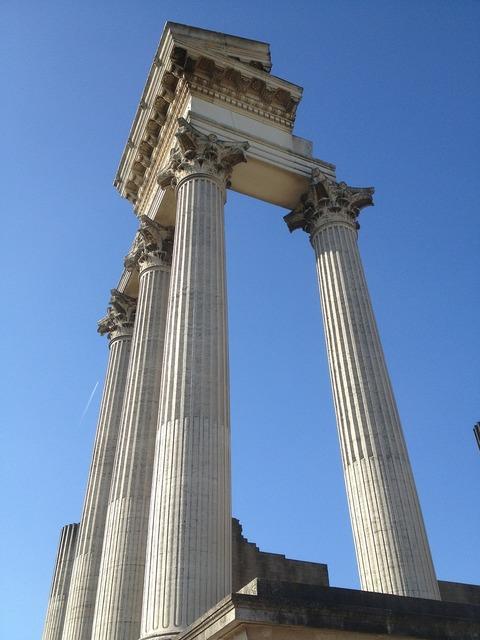 Roman columnar historically, architecture buildings.