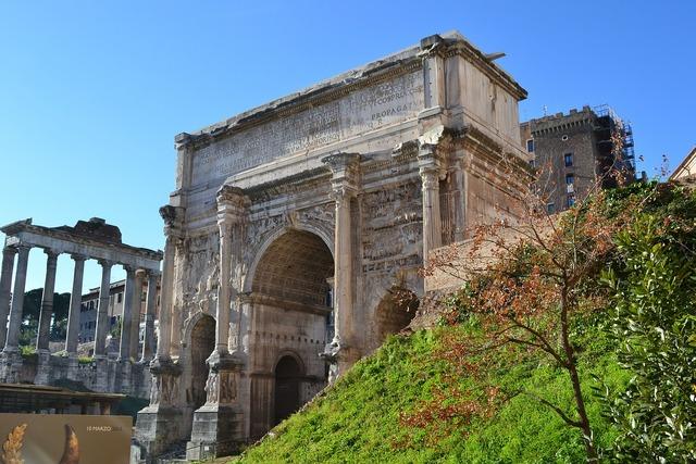 Roman forum rome columns.