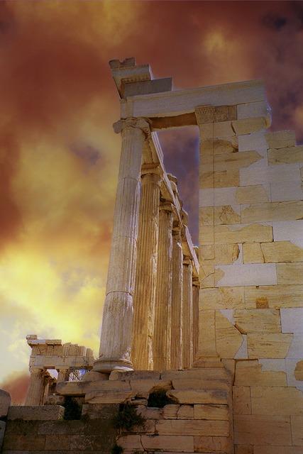 Roman ruin building, architecture buildings.