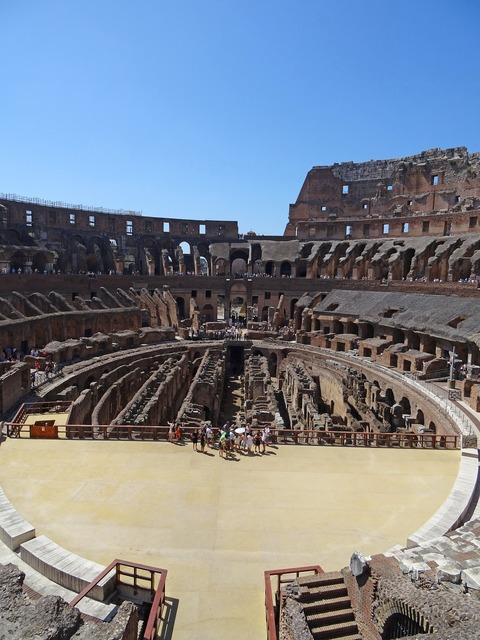 Rome coliseum italy, architecture buildings.