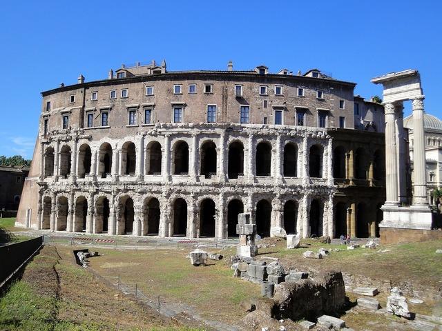 Rome colosseum monument, architecture buildings.