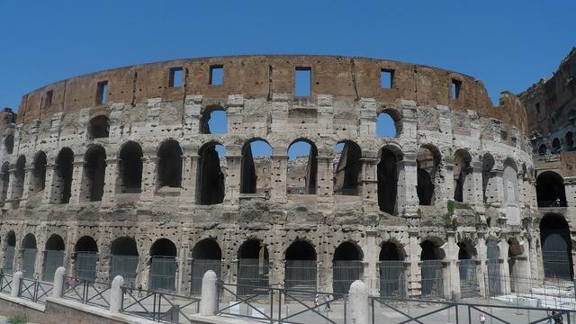 Rome colosseum ruins, places monuments.