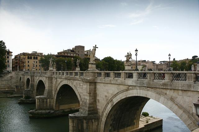Rome italy bridge of st angel.