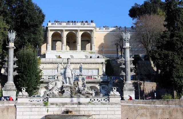Rome piazza del popolo pincio, architecture buildings.