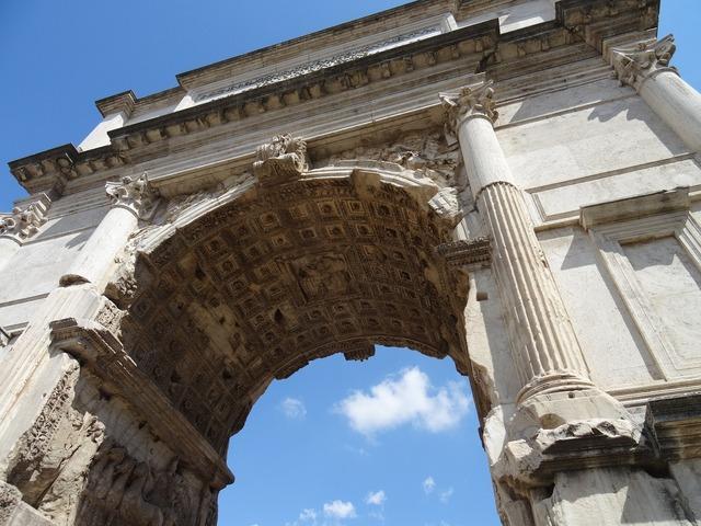 Rome roman forum triumphal arch.