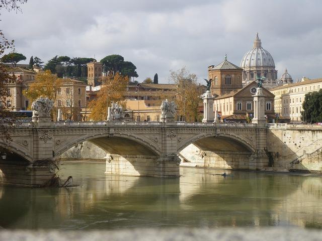 Rome vatican river.