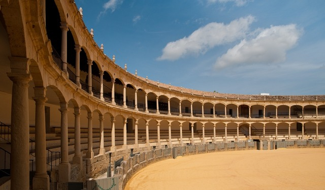 Ronda bull spain, places monuments.
