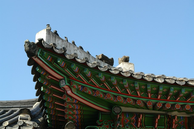 Roof tile republic of korea traditional.