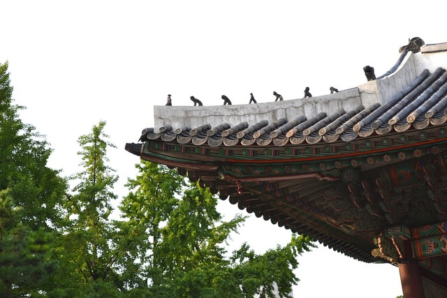 Roof tile virtue kotobuki shrine seoul.