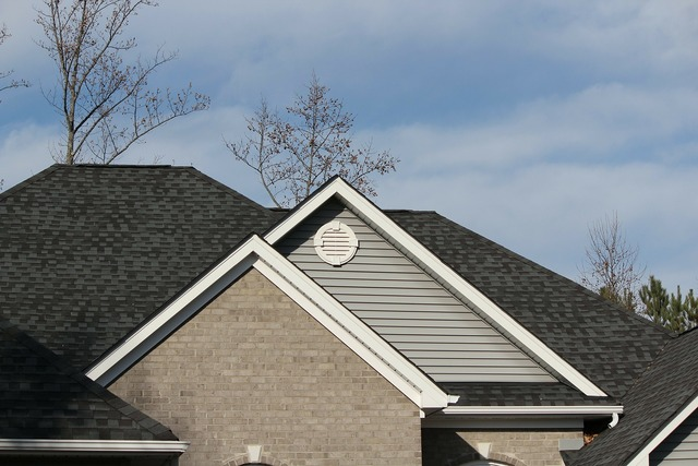 Roofline shingles architectural style.