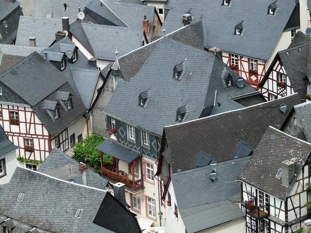 Roofs schieferdaecher fachwerkhäuser, architecture buildings.